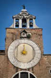Sundial, bell tower, Venice, Italy Royalty Free Stock Photos