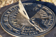Sun Dial In Direct Sunlight Showing Time Royalty Free Stock Photo