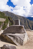 Sun dial in Machu Pichu Royalty Free Stock Image