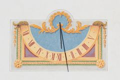 Sun dial made in the wall Stock Images