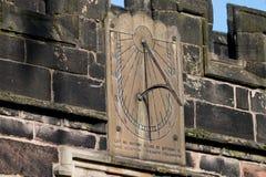 Sun Dial. A metal sun dial on a stone plate Royalty Free Stock Photos