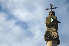 Sun dial on pillar, Elgin Royalty Free Stock Photo