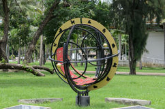 Sun dial with Thai number Royalty Free Stock Images