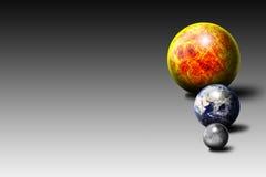 The Sun die Erde der Mond Lizenzfreie Stockfotos
