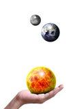 The Sun die Erde der Mond Lizenzfreie Stockbilder