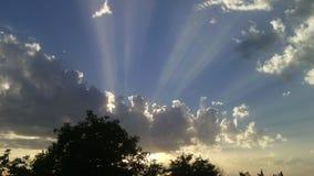 Sun dietro la nube Fotografie Stock