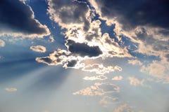 Sun dietro la nube Fotografia Stock Libera da Diritti