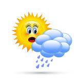 Sun dietro le nubi Fotografia Stock Libera da Diritti