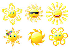 Sun diferente ilustração royalty free