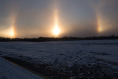 Sun Dogs Stock Photos