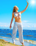 Sun, don't harm me! Stock Images