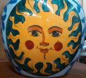 The Sun dos anos passados Imagens de Stock Royalty Free