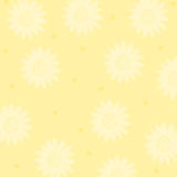 Sun and dots. Pastel yellow background with sun and dots royalty free illustration