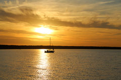 Sun down at the Baltic Sea Royalty Free Stock Photography