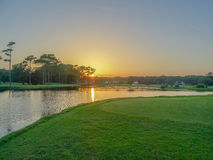 Sun down golf Stock Photography