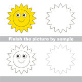 Sun. Drawing worksheet. Stock Photo