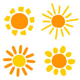 Sun drawings Royalty Free Stock Image