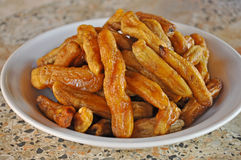 Sun-dried banana Royalty Free Stock Image