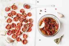 Sun-dried cherry tomatoes Stock Images