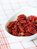 Sun dried cherry tomatoes close-up Royalty Free Stock Photo