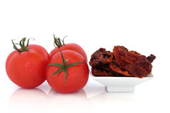 Sun Dried and Fresh Tomatoes Stock Image