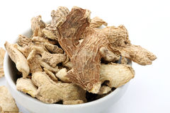 Sun dried ginger Stock Image