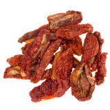 Sun dried Italian tomatoes, artisan made, isolated. Royalty Free Stock Photo