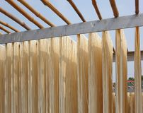Sun Dried Long Noodles in Taiwan Stock Photography