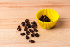 Sun Dried Raisins in Cake Mould Stock Photos