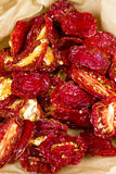 Sun-dried red plum tomatoes Royalty Free Stock Images