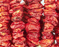 Sun dried red tomatoes Stock Photo