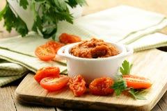 Sun-dried tomater för röd pesto Royaltyfri Foto