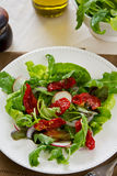 Sun-dried tomato with arugula salad Stock Image