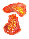Sun-dried tomatoes. Close up of sun-dried tomatoes Stock Photos