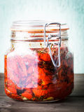Sun dried tomatoes Stock Images
