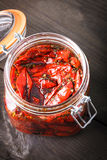 Sun dried tomatoes Royalty Free Stock Photos