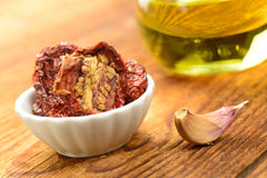 Sun dried tomatoes Royalty Free Stock Images