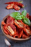 Sun-dried tomatoes. In a bowl Stock Images