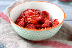 Sun-dried tomatoes in a bowl Royalty Free Stock Image