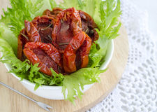 Sun-dried tomatoes close up Royalty Free Stock Photography