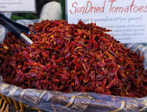 Sun Dried Tomatoes, Farmers Market, California Stock Photo