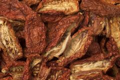 Sun dried tomatoes full frame Royalty Free Stock Photo