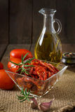 Sun-dried tomatoes with herbs Stock Images