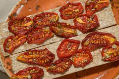 Sun-dried tomatoes Royalty Free Stock Photo