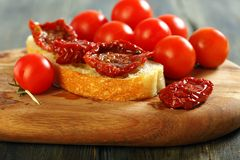 Sun-dried tomatoes in oil. Royalty Free Stock Photos