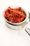 Sun-dried tomatoes with olive oil Royalty Free Stock Image
