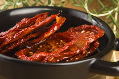 Sun dried tomatoes with olive Royalty Free Stock Image
