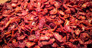 Sun dried tomatoes Royalty Free Stock Photography