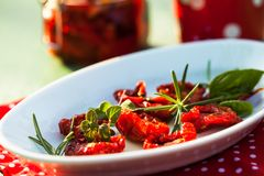 Sun dried tomatoes Stock Photo
