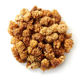 Sun-dried white mulberry berries Stock Images